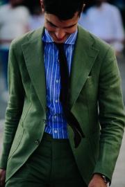 Man wearing green jacket